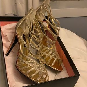 Nina gold high heels